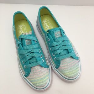 Keds Girl Double Up Turquoise Sugar Dip Sneaker